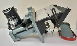 Delta Bench Mount Plate Biscuit Waffer Joiner 32-100 with Blade Foot Pedal