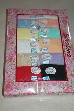 Plus Size 9 2X Women's Siralena 12 Pair Cotton Pretty Colors Multi-Color Briefs