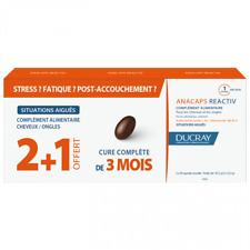 105353-(3pack) DUCRAY Anacaps Reactiv 30cap (Set) Dietary Supplement