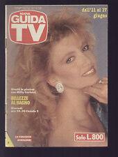 NUOVA GUIDA TV MONDADORI 23/1989 MILLY CARLUCCI TRAME FILM TELEFILM SERIE TV