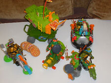 VINTAGE TEENAGE MUTANT NINJA TURTLES TMNT 5 VEHICLES & FIGURES & WEAPONS * 80'S