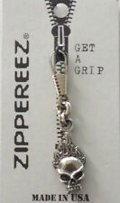 Biker Zipper Pull - Skull flames -  G040901  --