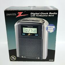 Zenith AM FM Digital Clock Radio Z203B with TV/Weather Band NEW Open Box
