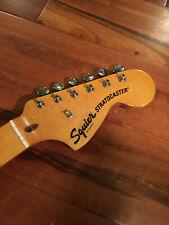 Fender Squier Strat Stratocaster Maple Neck Tuners Amber CBS Headstock