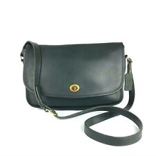 COACH Vintage Green Leather City Flap Shoulder Crossbody #9790