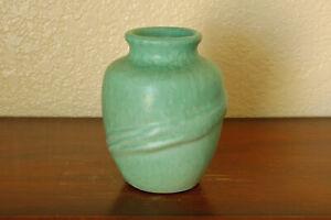 Vintage Weller Pottery 1930s Elberta Mini Cabinet Vase w/ Branches Seafoam Green