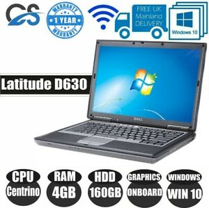 "WINDOWS 10 Dell Latitude D630 14.1"" LAPTOP CORE Intel Centrino 4GB RAM 160GB HDD"