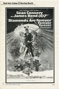 Sean Connery • DIAMONDS ARE FOREVER • 1971 • U/A • Folded, Complete •007 Bond