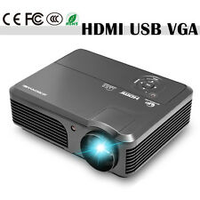 HD LCD Home Theater Projector Multimedia Movie Game Party HDMI USB VGA 4200lm US