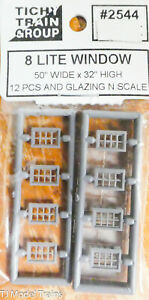 "Tichy Train Group N #2544 (8 Lite Windows) 50"" x 32"" Hight 12 pcs w/Glazing"