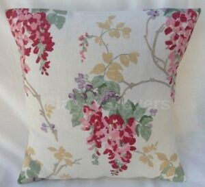 """Laura Ashley Designer Cushion Cover """"WISTERIA"""" Cranberry Fabric Various Sizes"""