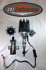 FORD FE 352-360-390-427-428 BLACK Small Cap HEI Distributor + CHROME 45K Coil