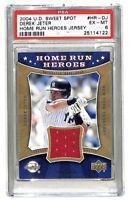 2004 Upper Deck Sweet Spot Derek Jeter 47/199 jersey patch card PSA 6 Yankees