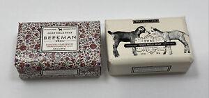 Beekman 1802 Goat Milk Soap Honeyed Grapefruit and Fragrance Free Bars LOT OF 2