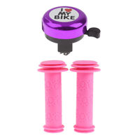 Girls Bike Handle Bar Grip Scooter Kids Bicycle Handlebar Grip & Ring Bell
