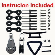 Kayak Canoe Anchor Trolley Kit System Instruction Included  -NO ROPES