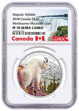 2018 Canada Wildlife - Mettlesome Mountain Goat 1 oz Silver NGC PF70 UC SKU53399