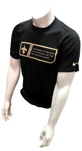 Nike Dri Fit Men's New Orleans Saints Black Short Sleeve Shirt NFL T-Shirt
