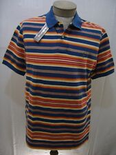 Polo Ralph Lauren L Stripe Mesh Rugby Shirt Mens Navy Blue Red Orange Olive Pony
