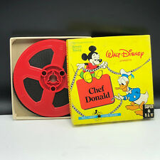 WALT DISNEY SUPER 8 HOME MOVIE box silent 8mm B&W 1960s Chef Donald Duck Mickey