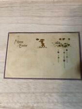 Vintage Early 1900s Happy Easter Postcard Postmarked Camptown Pa Pc43