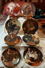 """Norman Rockwell """"Heritage Collection"""", Lot of 8 Knowles, Collector Plates"""