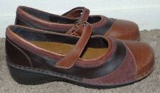 New Women's Size 37 US 6 NAOT Brown Leather Suede Mary Jane Loafers Shoes