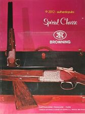 Publicite 1968 FUSIL SPECIAL CHASSE BROWNING CARTOUCHERIE FRANCAISE AD HUNTER