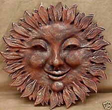 Smiling Sun Wall Plaque Home Garden Decor Art Sculpture
