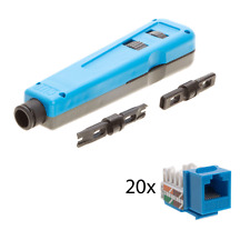 110/66 LAN Punch Down Impact Blade Tool CAT5e Cable Keystone Jack Patch Panel