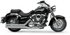 "Hard Krome 3"" Straights Exhaust with Tips Kawasaki Vulcan Classic 1700 VN1700"