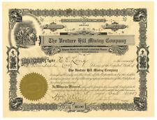 Venture Hill Mining Company. Stock Certificate. Arizona. 1917