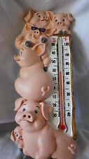 Thermometer innen außen Schweine Schweinchen Schweinerei 19 cm lang