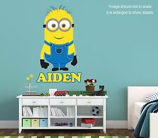 Personalized Minion Wall Decal (Removable and Replaceable)