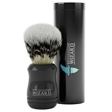 Shaving Brush, Synthetic Badger Hair with Case by Well Groomed Wizard