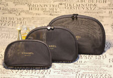 Mesh net CHANEL 3 pcs set vanity cosmetic case makeup bag toiletry gift her lady