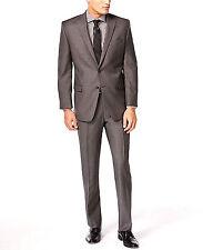 Calvin Klein Designer Charcoal Pindot Wool Slim-Fit Mens Jacket 38S  MSRP $425