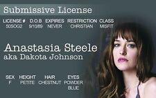 Anastasia Steele Dakota Johnson 50 Shades of Grey CONTROL FREAK Drivers License