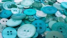 100 CARIBBEAN WAVE BUTTONS, ASSORTED STYLES, TURQUOISE TEAL GREEN WHITE & MORE