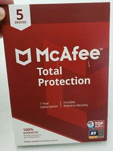 McAfee MCA950800F013 Total Protection 5 Device Antivirus Software New
