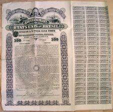 BRESIL   EMPRUNT 1909  PORT DE PERNAMBUCO   action titre bond loan Brazil