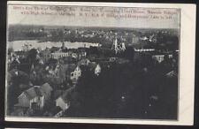 Postcard SALISBURY MD  Court House/Masonic Temple & High School Aerial view 1906