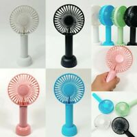 Mini Portable USB Rechargeable Handheld Air Cooling Fan w/ stand (3 Speed Mode)