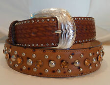 Tony Lama New THE NASHVILLE Leather Belt  Size 44  NWT  C40765