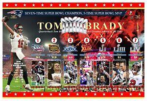 "SUPERSTAR TOM BRADY 7-TIME SUPER BOWL CHAMPION 19""x13"" COMMEMORATIVE POSTER"