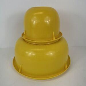 Vintage Tupperware Fix N Mix Mixing Bowls Harvest Yellow 274 Nesting