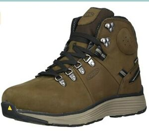 "KEEN Utility Mens Manchester 6"" SoftToe WP Work Boot NWIB Cascade/Brindle US 8.5"