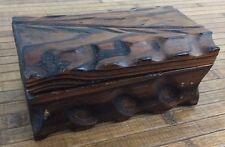 Vintage Primitive Wooden Box Made from Wood