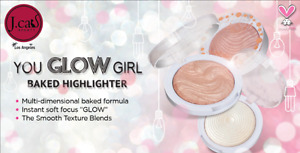J.Cat You Glow Girl Baked Highlighter Shimmer Bronzer Powder NEW! FREE SHIPPING!