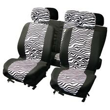 UNIVERSAL CAR SEAT COVER SET zebra design black/white Washable Airbag Compatible
